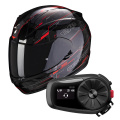 Pack Exo 390 Beat Black Neon Red + Kit Bluetooth Sena 5S Solo