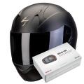 Pack Exo 390 Matt Black + Kit Bluetooth Sena SMH5