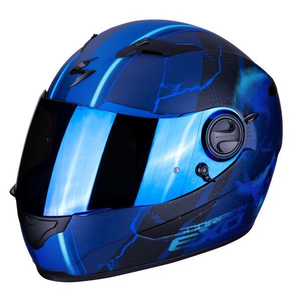 Casque Integral Scorpion Exo 490 Dar Bleu Mat
