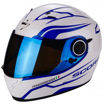 Casque Integral Scorpion Exo 490 Luz White Blue