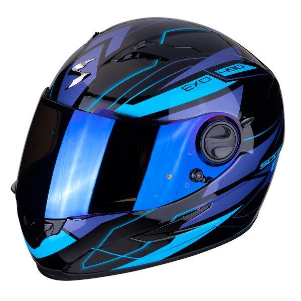 Casque Integral Scorpion Exo 490 Nova Noir Bleu