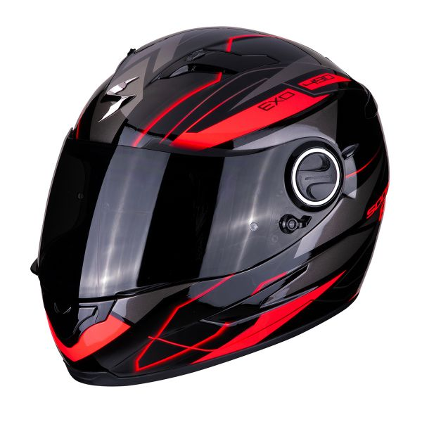 Casque Integral Scorpion Exo 490 Nova Noir Rouge