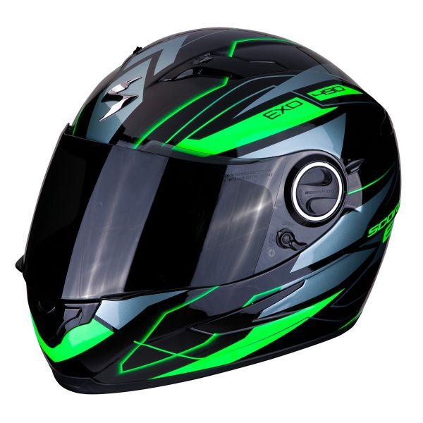 Casque Integral Scorpion Exo 490 Nova Noir Vert