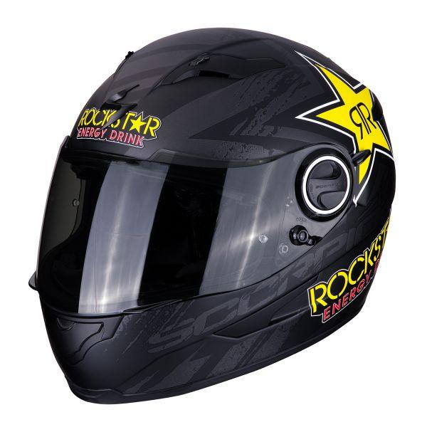 Casque Integral Scorpion Exo 490 Rockstar Noir Jaune Rouge