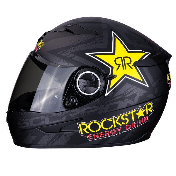 Scorpion Exo 490 Rockstar Noir Jaune Rouge