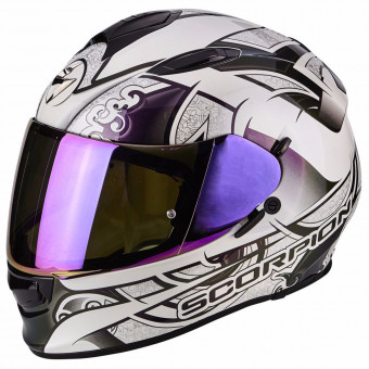 Casque Integral Scorpion Exo 510 Air Arabesc Chameleon White