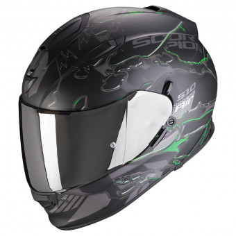 Casque Integral Scorpion Exo 510 Air Likid Noir Mat Vert