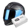 Pack Exo 510 Air Route Matt Black Blue + Kit Bluetooth Sena SMH5