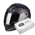 Pack Exo 510 Air Route Matt Black Red + Kit Bluetooth Sena SMH5