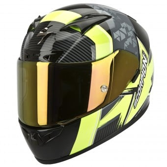 Casque Integral Scorpion EXO 710 Air Crystal Jaune Fluo