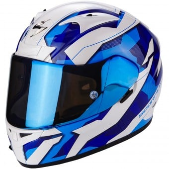 Casque Integral Scorpion EXO 710 Air Furio White Blue