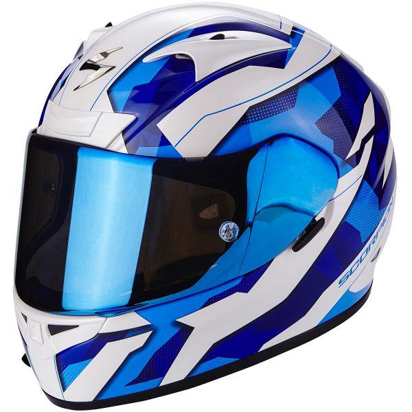 Casque Integral Scorpion EXO 710 Air Furio White Blue
