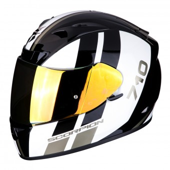 Casque Integral Scorpion Exo 710 Air GT Noir Blanc Or
