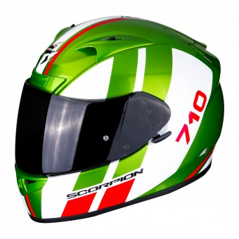 Casque Integral Scorpion Exo 710 Air GT Vert Blanc Rouge