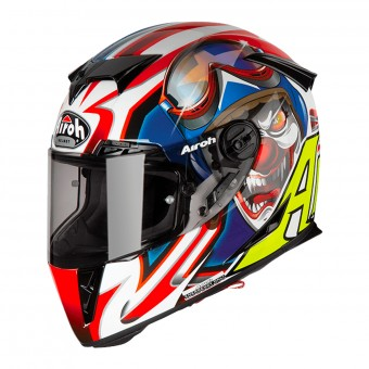 Casque Integral Airoh GP500 Flyer Rouge Bleu