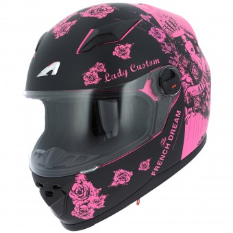 Casque Integral Astone GT2 Lady Custom Black Pink
