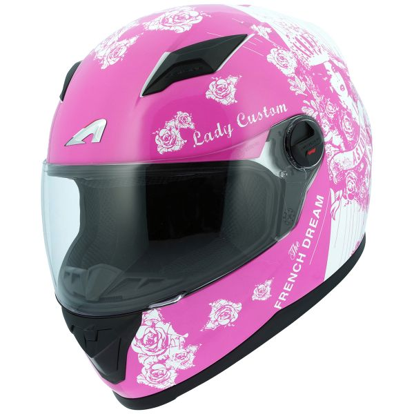 Casque Integral Astone GT2 Lady Custom White Pink