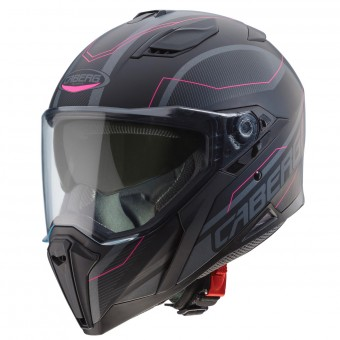 Casque Integral Caberg Jackal Supra Noir Anthracite Matt Rose