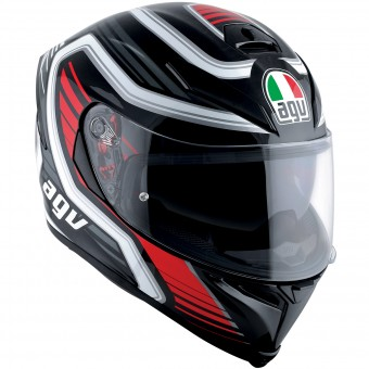 Casque Integral AGV K-5 S Firerace Black Red