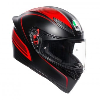 Casque Integral AGV K1 Warmup Noir Mat Rouge
