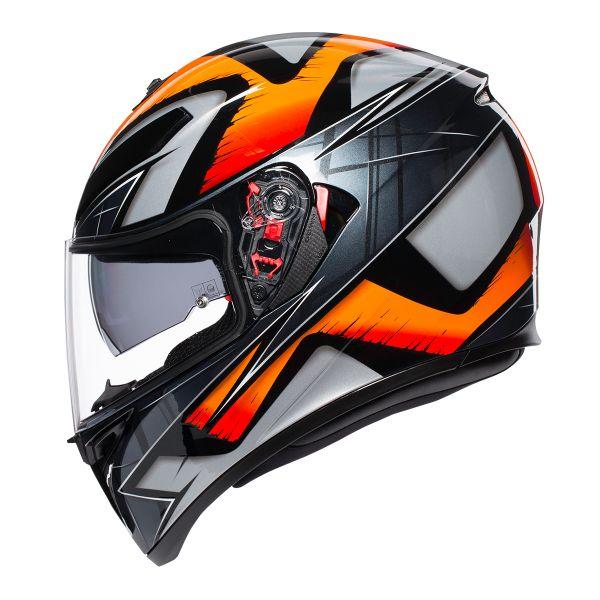 AGV K3 SV Liquefy Noir Orange