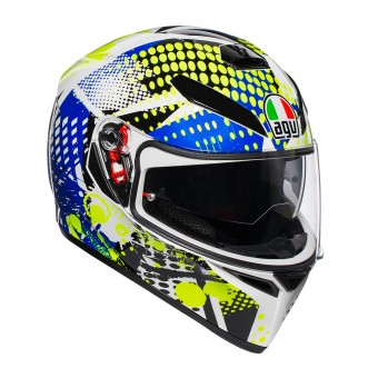Casque Integral AGV K3 SV Pop Blanc Bleu