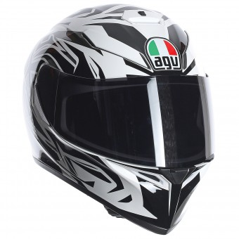 Casque Integral AGV K3 SV Rookie White Gunmetal Black