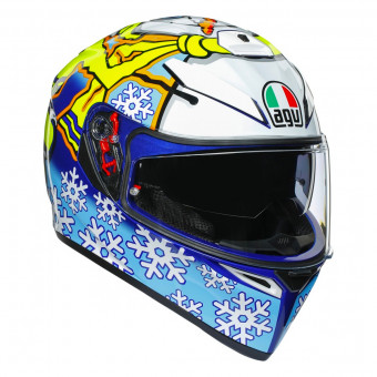 Casque Integral AGV K3 SV Rossi Winter Test 2016