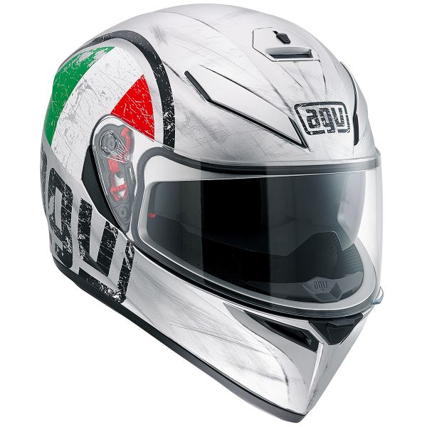 Casque Integral AGV K3 SV Scudetto Matt Silver