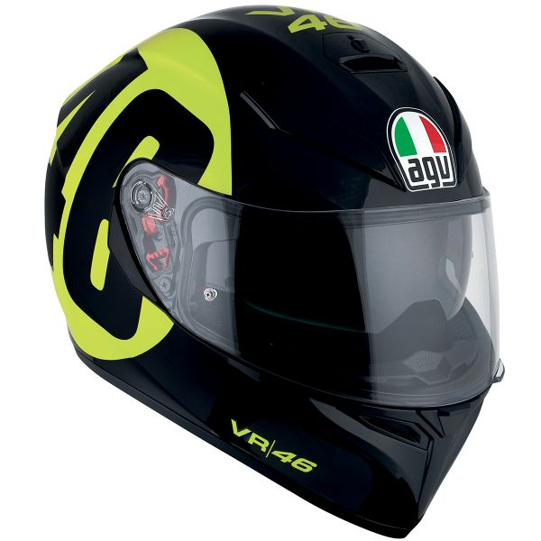 Casque Integral AGV K3 SV Top Bollo 46 Black Yellow