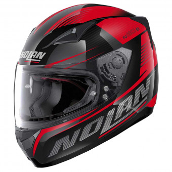 Casque Integral Nolan N60 5 Motrico Glossy Black Red 47