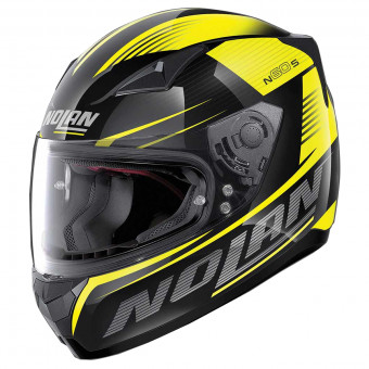 Casque Integral Nolan N60 5 Motrico Glossy Black Yellow 45