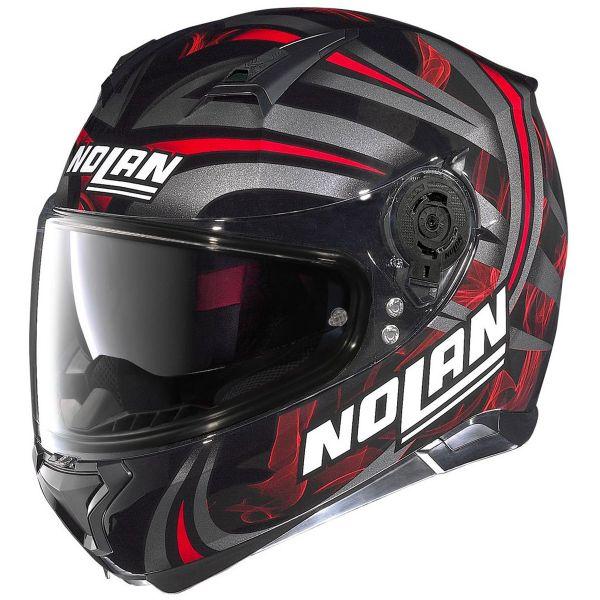 Casque Integral Nolan N87 Ledlight N-Com Black Red 30
