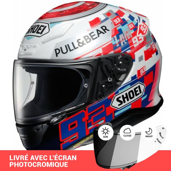 Casque Integral Shoei NXR Marquez Power Up TC1 + Ecran Photocromique