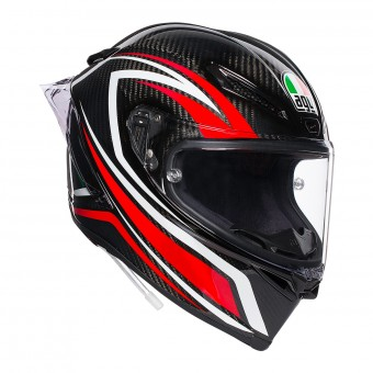 Casque Integral AGV Pista GP R Staccata Carbon Rouge