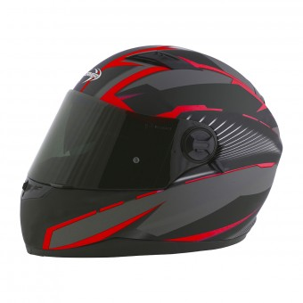 Casque Integral Stormer Pusher Xenon Rouge Mat
