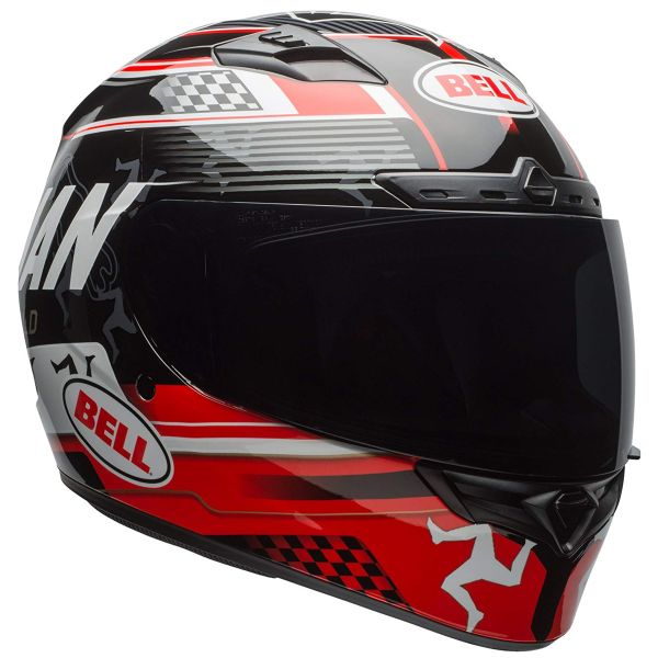 Casque Integral Bell Qualifier Dlx Mips Isle Of Man Black Red