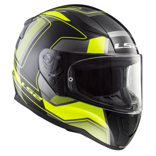 Casque Integral LS2 Rapid Carrera Matt Black H-V Yellow FF353