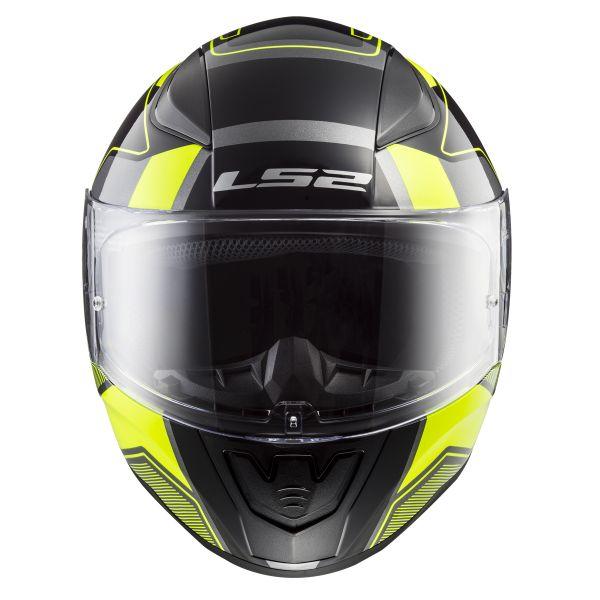 LS2 Rapid Carrera Matt Black H-V Yellow FF353