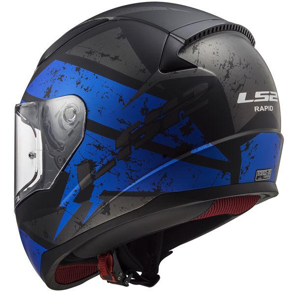 LS2 Rapid Deadbolt Matt Black Blue FF353