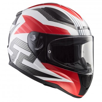 Casque Integral LS2 Rapid Grid White Red FF353