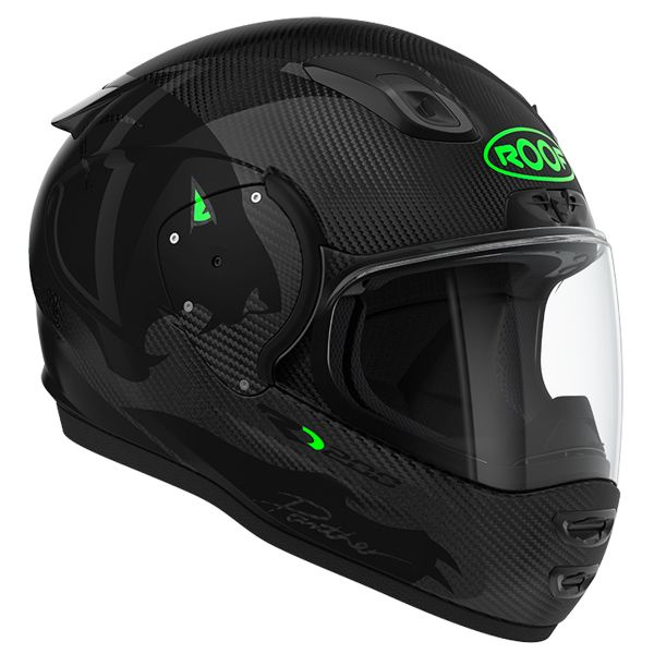Casque Integral Roof RO200 Carbon Panther Black Green