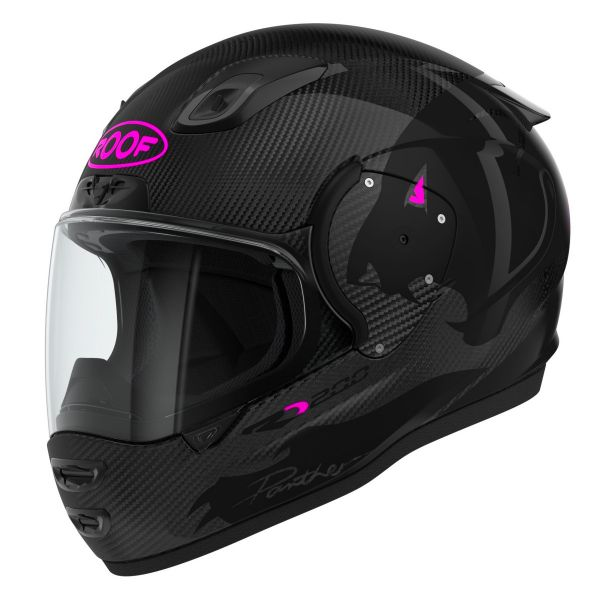 Casque Integral Roof RO200 Carbon Panther Black Pink Fluo