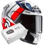 Casque Integral HJC RPHA 11 Ben Spies MC1 + Kit Bluetooth Sena SMH5