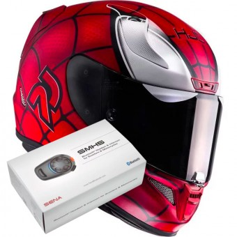Casque Integral HJC RPHA 11 Marvel Spiderman MC1SF + Kit Bluetooth Sena SMH5
