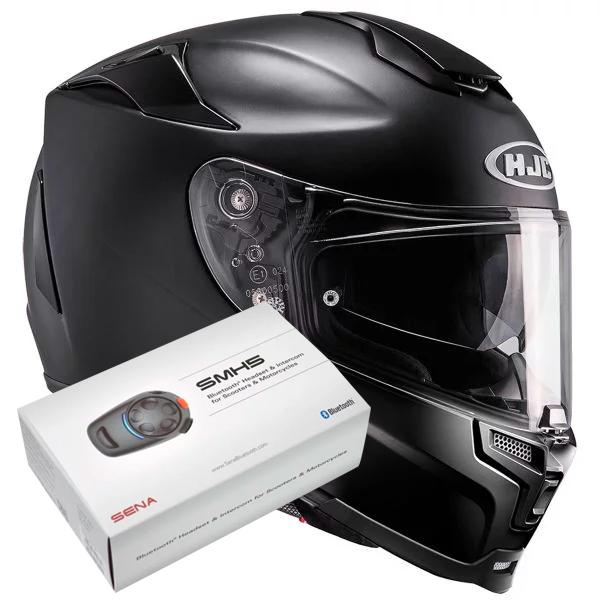 Casque Integral HJC RPHA 70 Black + Kit Bluetooth Sena SMH5