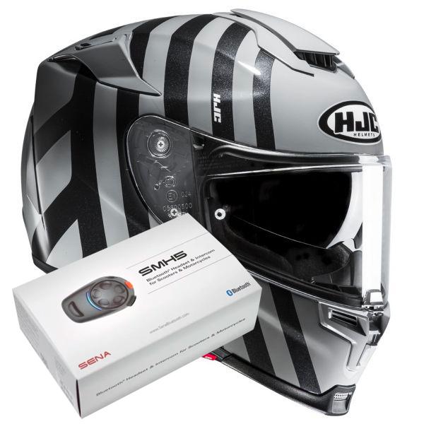 Casque Integral HJC RPHA 70 Forvic MC5 + Kit Bluetooth Sena SMH5