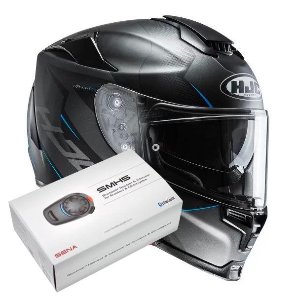 Casque Integral HJC RPHA 70 Gadivo MC2SF + Kit Bluetooth Sena SMH5