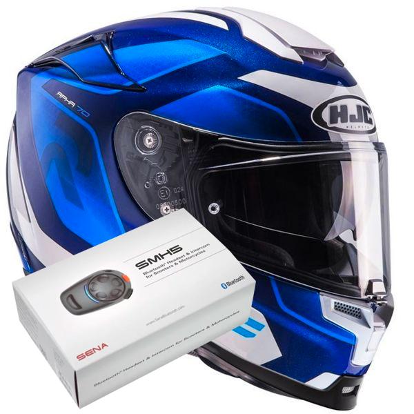 HJC RPHA 70 Grandal MC2 + Kit Bluetooth Sena SMH5