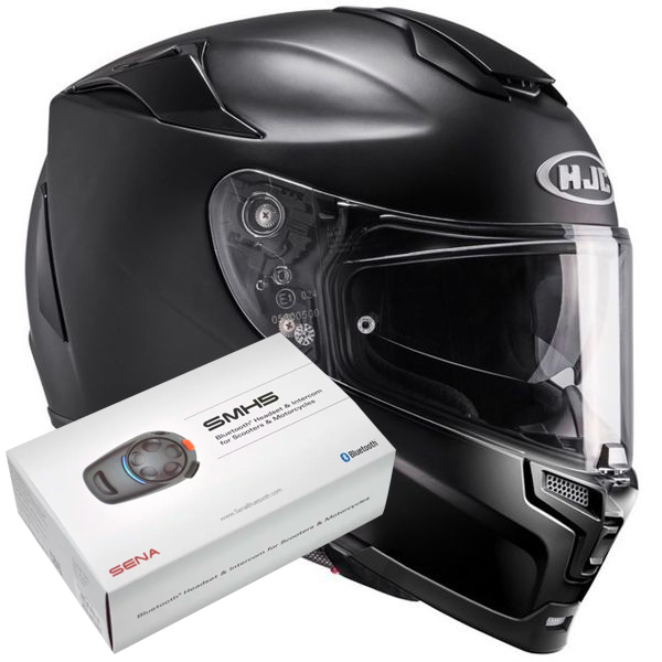 Casque Integral HJC RPHA 70 Semi Mat Black + Kit Bluetooth Sena SMH5